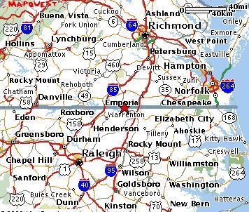 map of virginia and north carolina border virginia map